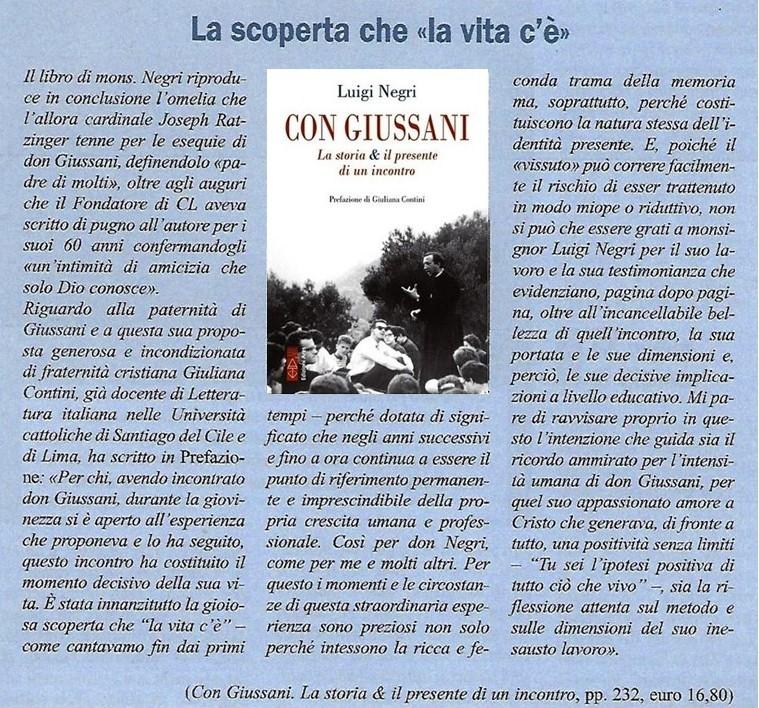 Luigi Negri - CON GIUSSANI La storia il presente di un incontro -Edizioni ARES